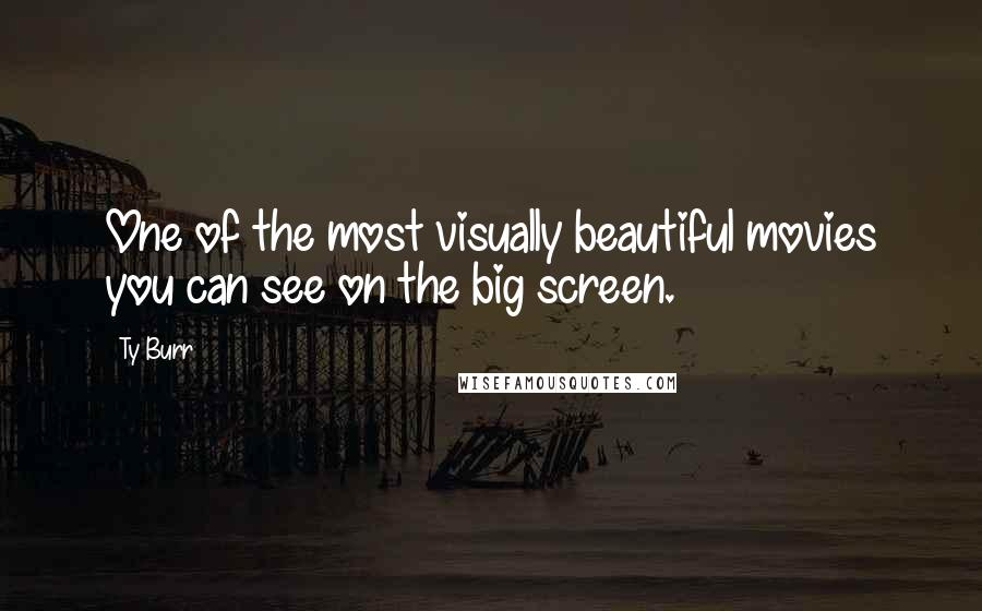 Ty Burr quotes: One of the most visually beautiful movies you can see on the big screen.