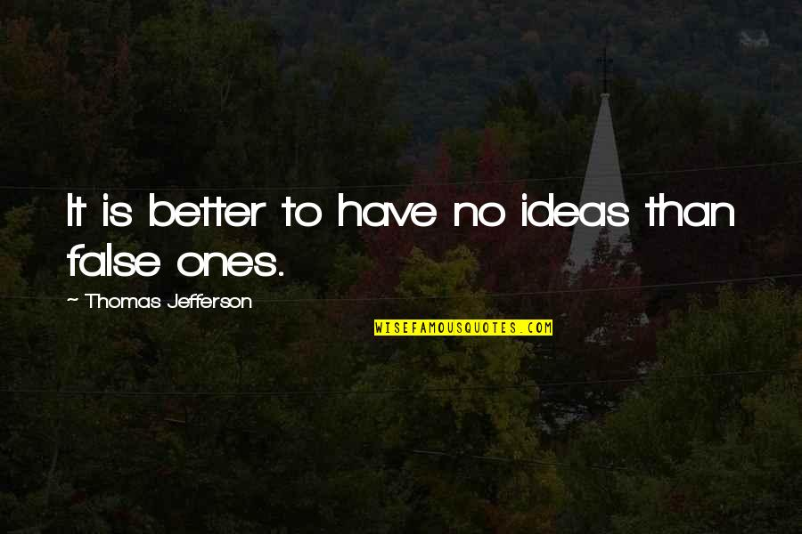Ty Lee Quotes By Thomas Jefferson: It is better to have no ideas than