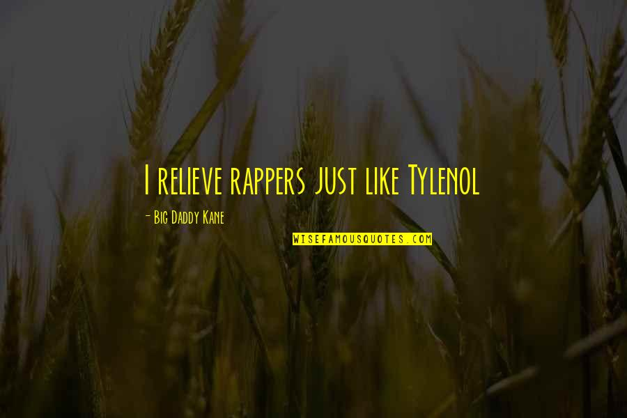 Tylenol Quotes By Big Daddy Kane: I relieve rappers just like Tylenol