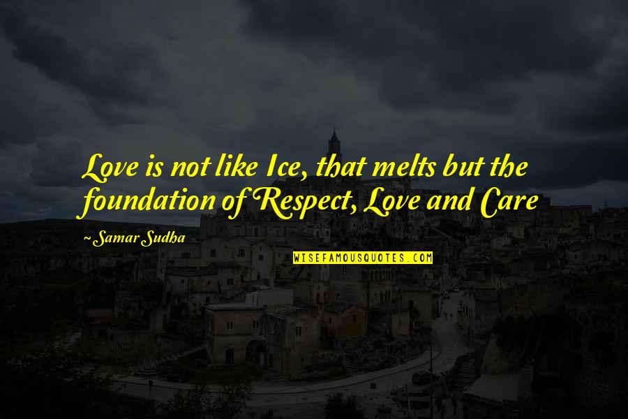 Typical Macedonian Quotes By Samar Sudha: Love is not like Ice, that melts but