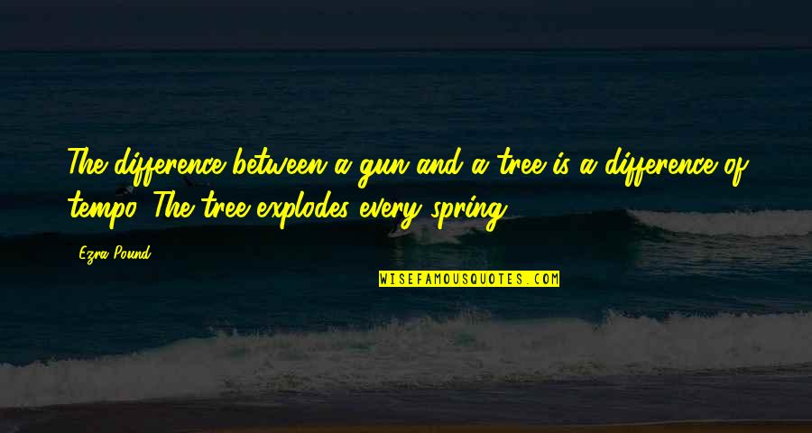 Typical Old Man Quotes By Ezra Pound: The difference between a gun and a tree