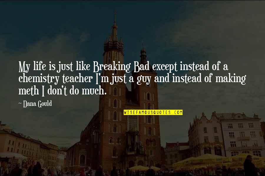 U R The Best Teacher Quotes By Dana Gould: My life is just like Breaking Bad except
