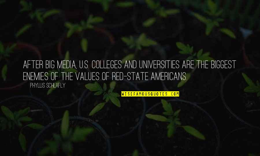 U.s Quotes By Phyllis Schlafly: After Big Media, U.S. colleges and universities are