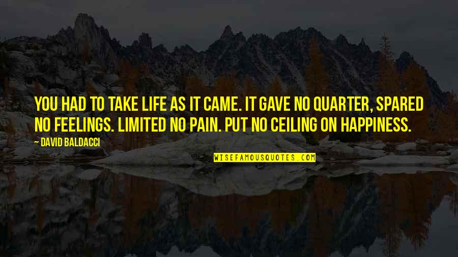 Ucb Power Marketing Quotes By David Baldacci: You had to take life as it came.