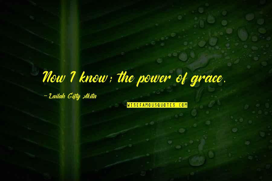 Ufo Witness Quotes By Lailah Gifty Akita: Now I know; the power of grace.