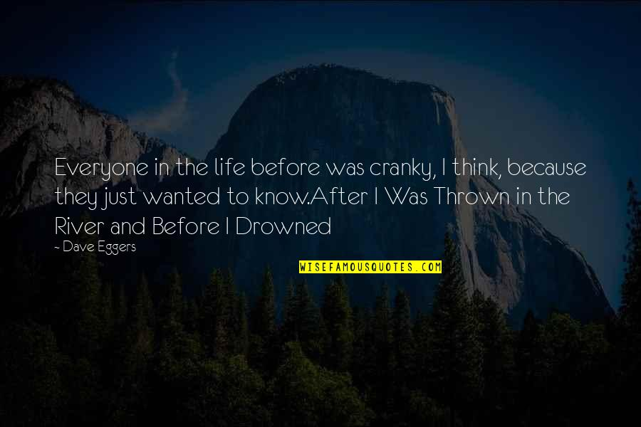 Ujung Quotes By Dave Eggers: Everyone in the life before was cranky, I