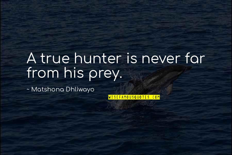 Ulrich Stern Quotes By Matshona Dhliwayo: A true hunter is never far from his