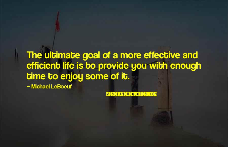 Ultimate Goal Quotes By Michael LeBoeuf: The ultimate goal of a more effective and