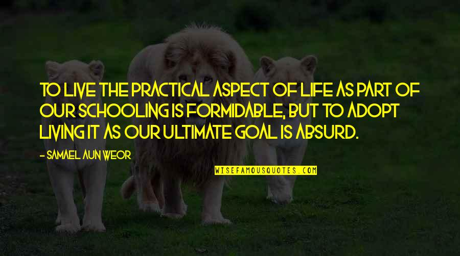 Ultimate Goal Quotes By Samael Aun Weor: To live the practical aspect of life as