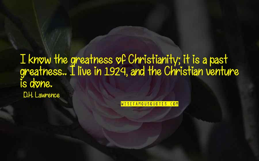 Umvc3 Akuma Quotes By D.H. Lawrence: I know the greatness of Christianity; it is