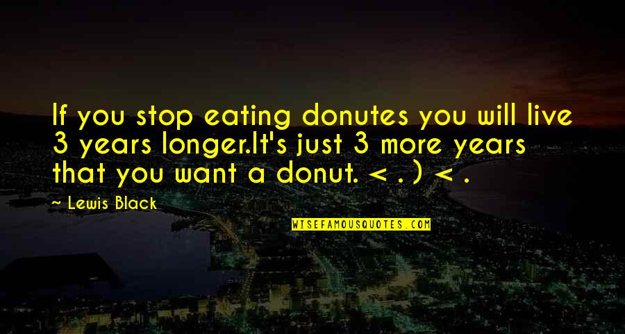 Unbridged Quotes By Lewis Black: If you stop eating donutes you will live