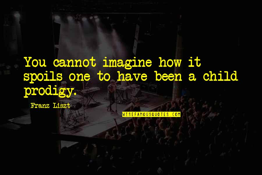 Unconditional Love For Your Son Quotes By Franz Liszt: You cannot imagine how it spoils one to