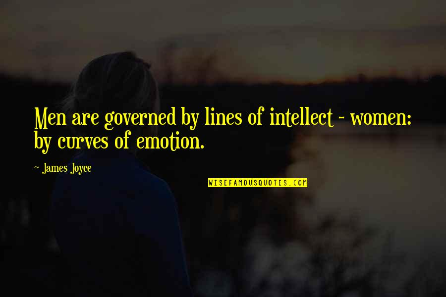 Uncurbed Quotes By James Joyce: Men are governed by lines of intellect -