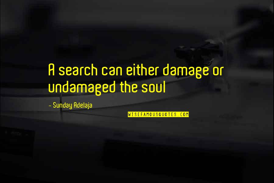 Undamaged Quotes By Sunday Adelaja: A search can either damage or undamaged the