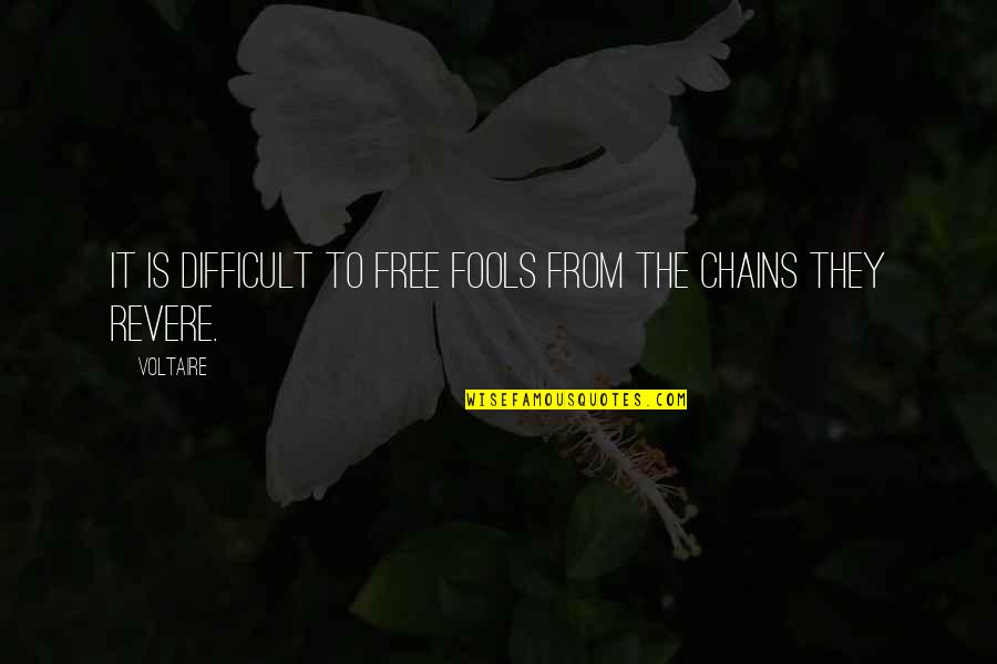 Undercover Economist Quotes By Voltaire: It is difficult to free fools from the