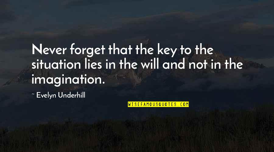 Underhill Quotes By Evelyn Underhill: Never forget that the key to the situation