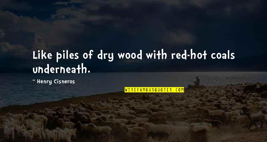 Underneath Quotes By Henry Cisneros: Like piles of dry wood with red-hot coals