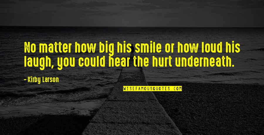 Underneath Quotes By Kirby Larson: No matter how big his smile or how