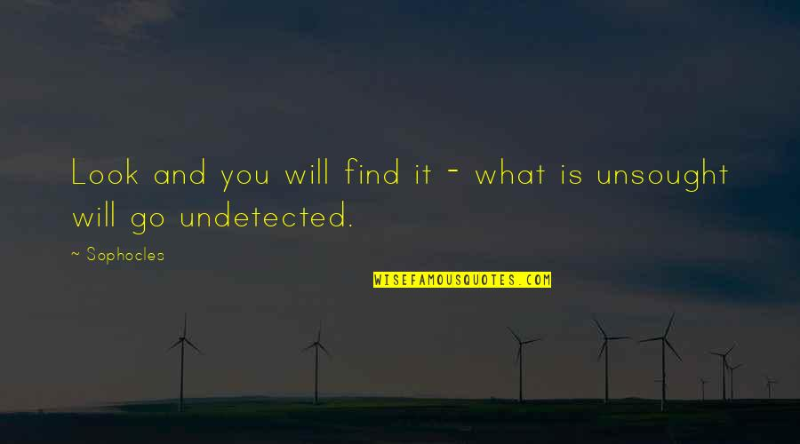 Undetected Quotes By Sophocles: Look and you will find it - what