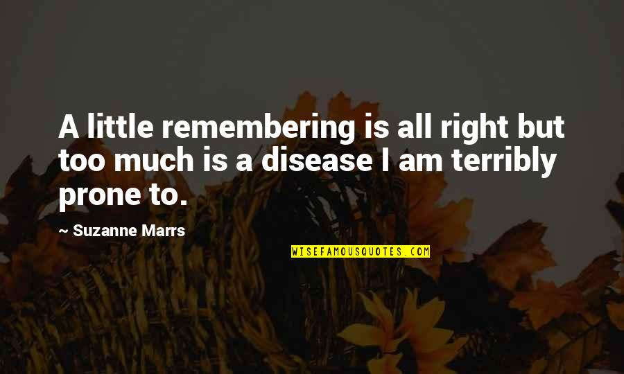 Unethical Human Experimentation Quotes By Suzanne Marrs: A little remembering is all right but too