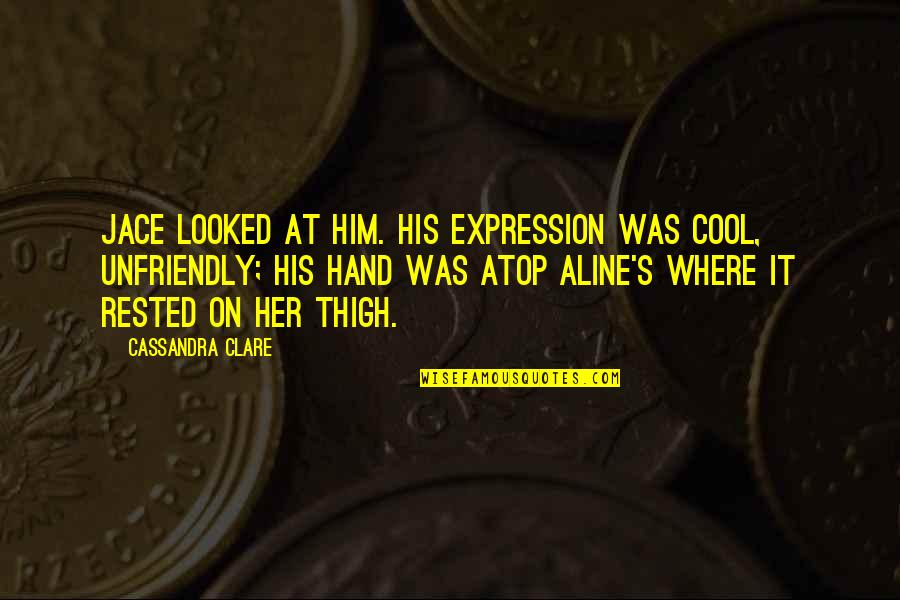 Unfriendly Quotes By Cassandra Clare: Jace looked at him. His expression was cool,