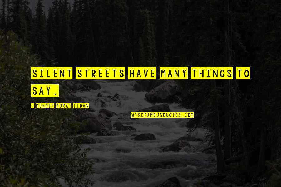 Unisa Textbook Quotes By Mehmet Murat Ildan: Silent streets have many things to say.