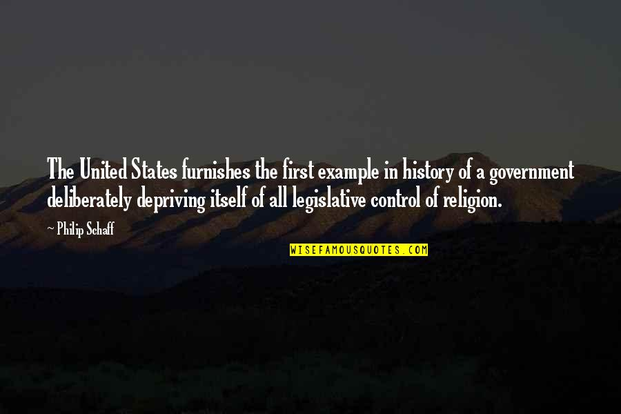 United States History Quotes By Philip Schaff: The United States furnishes the first example in
