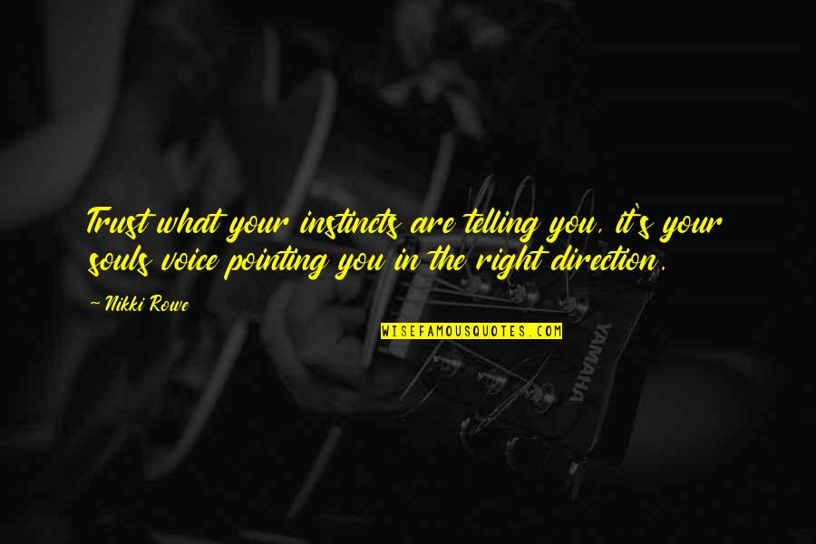 United States Of Tara Charmaine Quotes By Nikki Rowe: Trust what your instincts are telling you, it's
