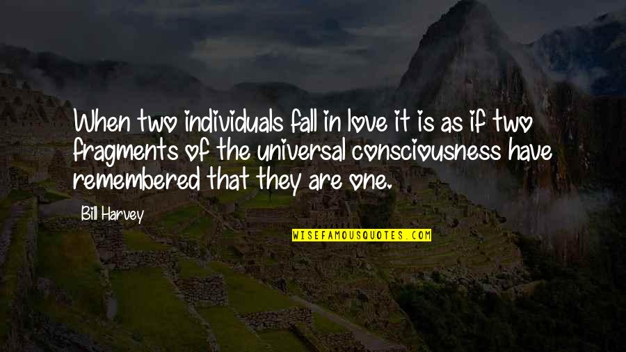 Universal Consciousness Quotes By Bill Harvey: When two individuals fall in love it is