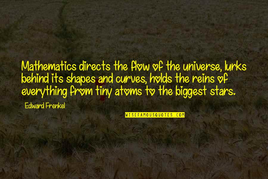 Universe And Stars Quotes By Edward Frenkel: Mathematics directs the flow of the universe, lurks