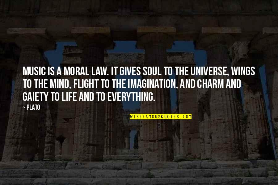 Universe Music Quotes By Plato: Music is a moral law. It gives soul