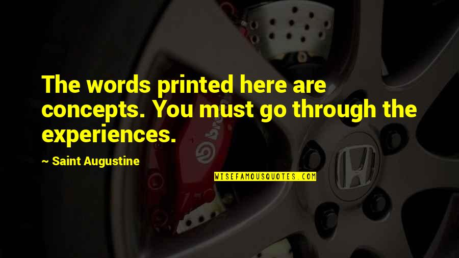 Unp Stock Quotes By Saint Augustine: The words printed here are concepts. You must