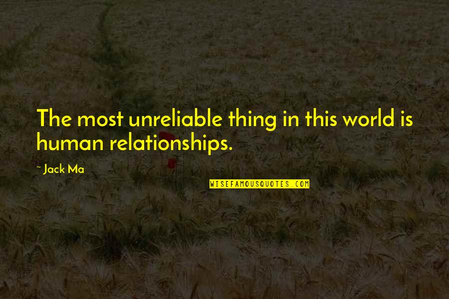 Unreliable Quotes By Jack Ma: The most unreliable thing in this world is