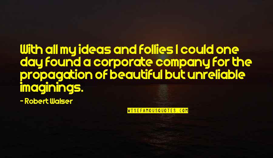Unreliable Quotes By Robert Walser: With all my ideas and follies I could