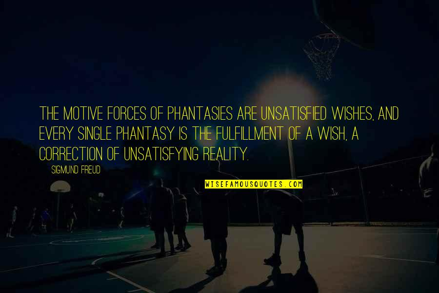 Unsatisfied Quotes By Sigmund Freud: The motive forces of phantasies are unsatisfied wishes,