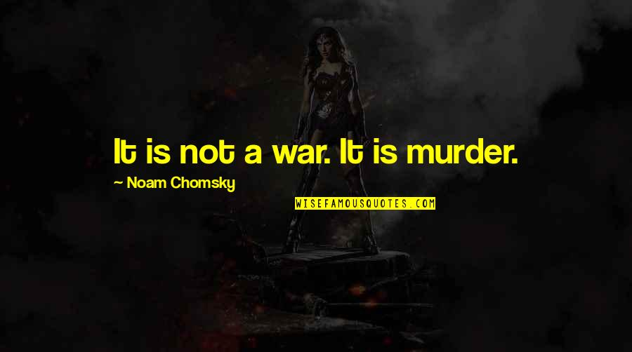 Unskinned Quotes By Noam Chomsky: It is not a war. It is murder.