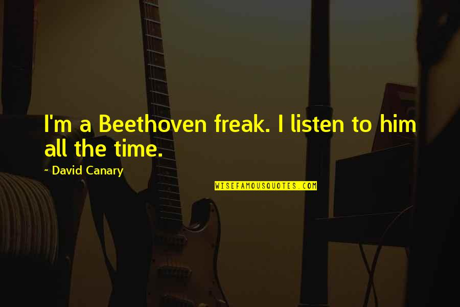 Unspoken Connections Quotes By David Canary: I'm a Beethoven freak. I listen to him