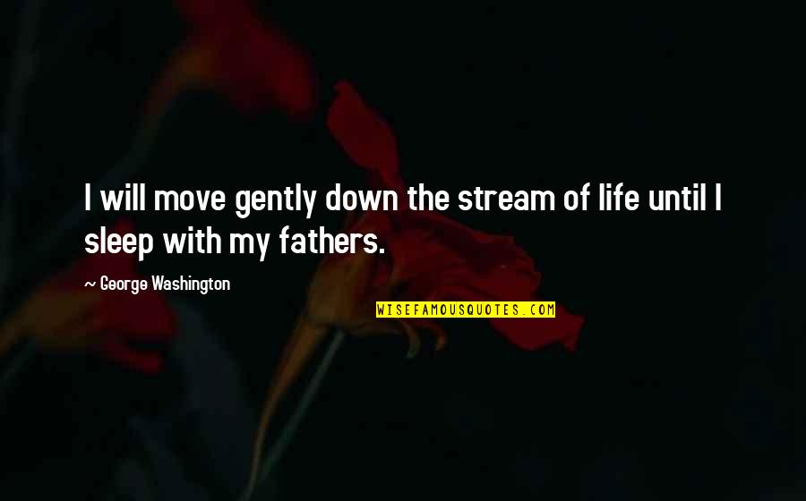 Until Death Quotes By George Washington: I will move gently down the stream of