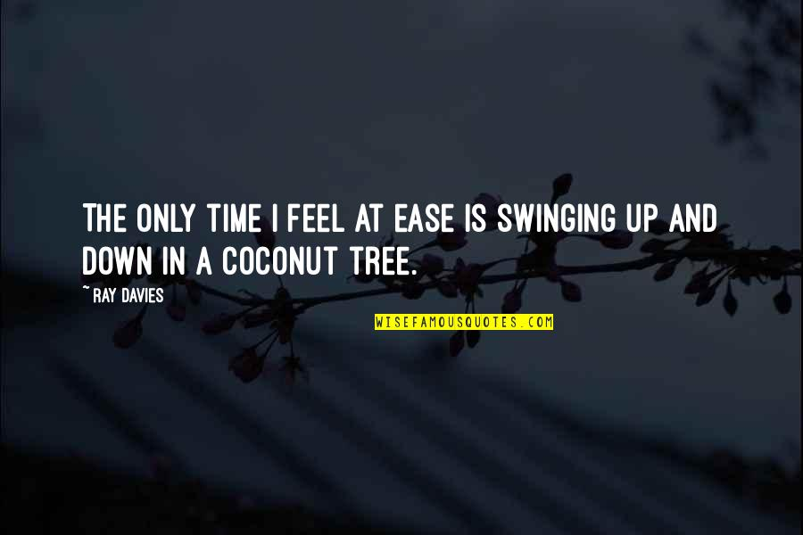 Up And Down Quotes By Ray Davies: The only time I feel at ease is
