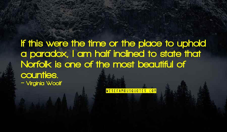 Uphold Quotes By Virginia Woolf: If this were the time or the place