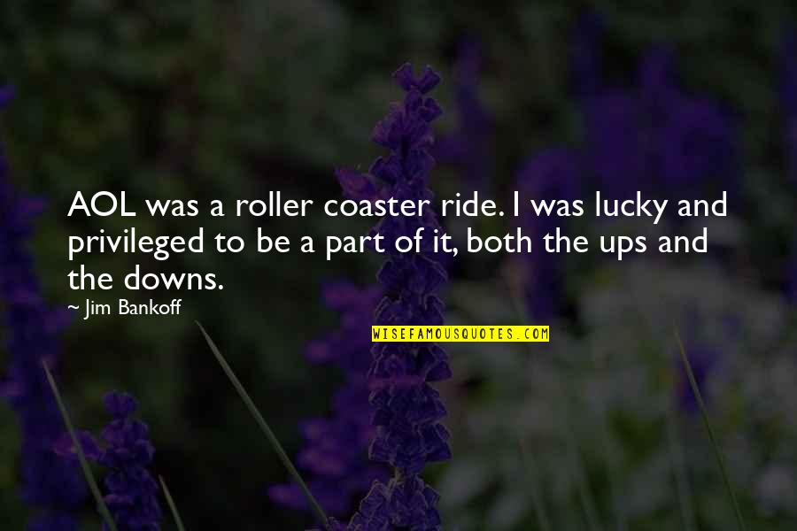 Ups Downs Quotes By Jim Bankoff: AOL was a roller coaster ride. I was