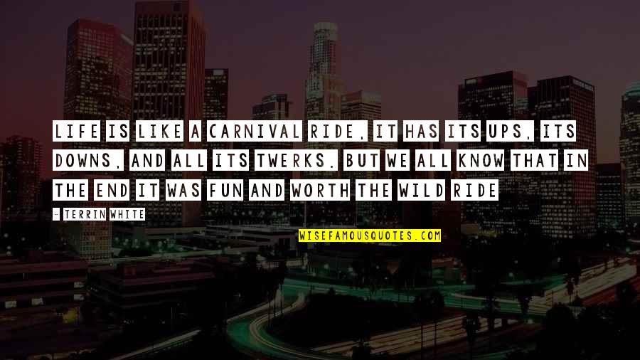 Ups Downs Quotes By Terrin White: Life Is Like A Carnival Ride, It Has