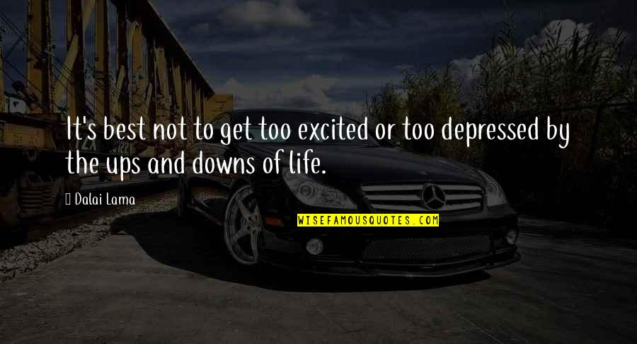 Ups N Downs In Life Quotes By Dalai Lama: It's best not to get too excited or