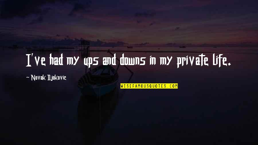 Ups N Downs In Life Quotes By Novak Djokovic: I've had my ups and downs in my