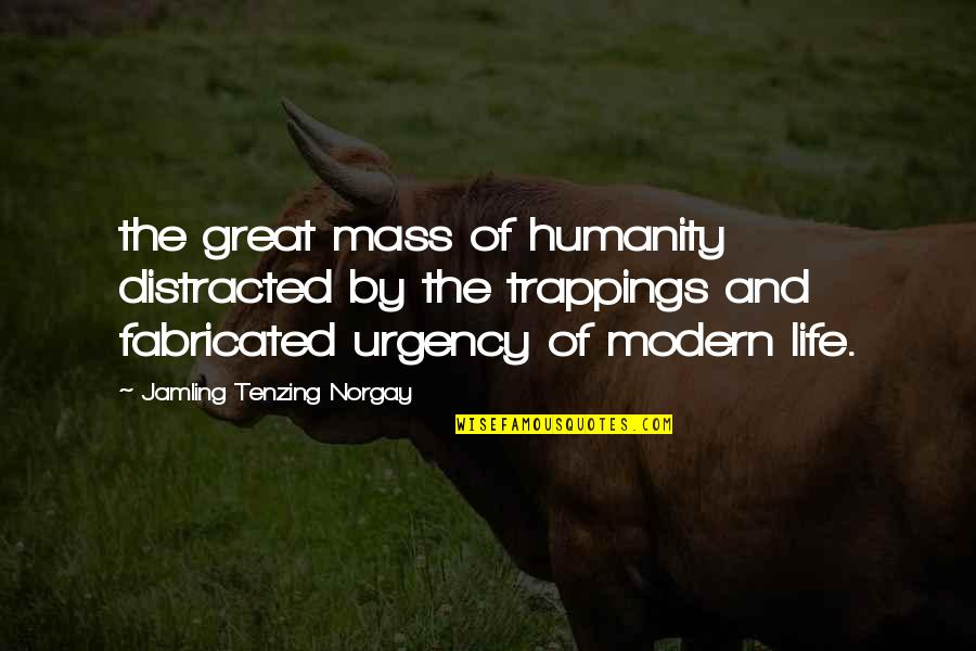 Urgency Quotes By Jamling Tenzing Norgay: the great mass of humanity distracted by the