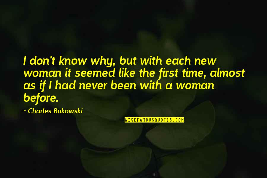 Usama Ibn Munqidh Quotes By Charles Bukowski: I don't know why, but with each new
