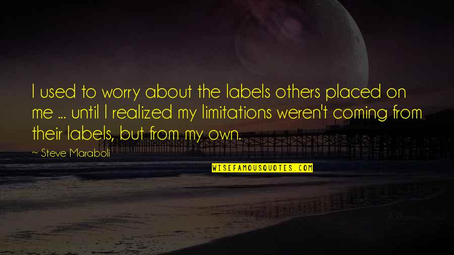 Used By Others Quotes By Steve Maraboli: I used to worry about the labels others