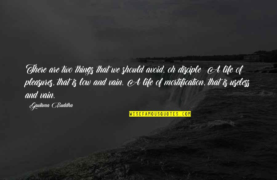 Useless Things Quotes By Gautama Buddha: There are two things that we should avoid,