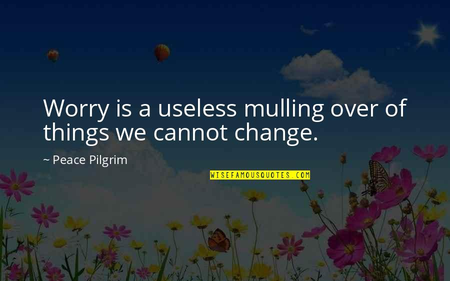 Useless Things Quotes By Peace Pilgrim: Worry is a useless mulling over of things