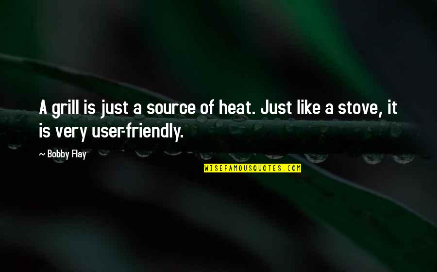 User Friendly Quotes By Bobby Flay: A grill is just a source of heat.